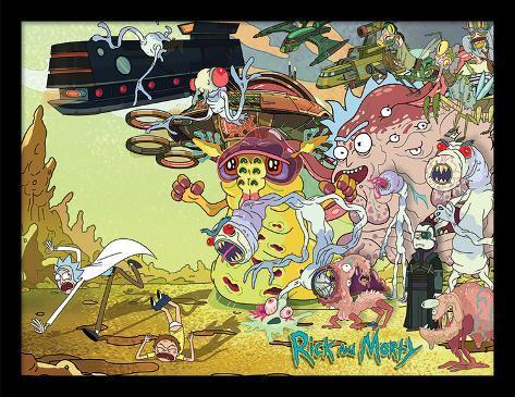 Rick & Morty - Creature Barrage Collector Print