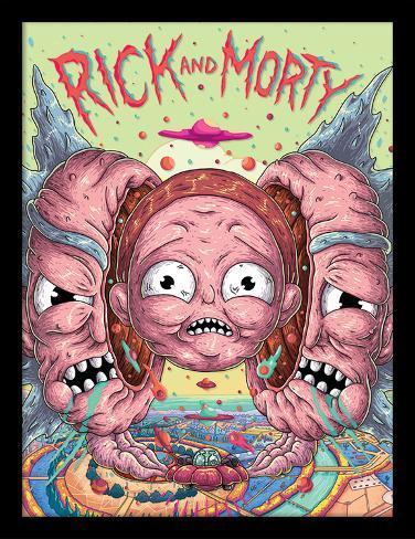 Rick & Morty - Head Splitter Collector Print