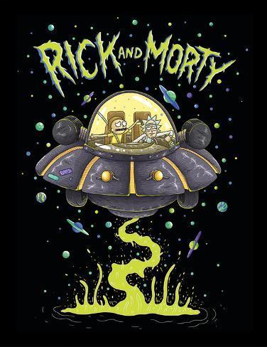 Rick & Morty - UFO Collector Print