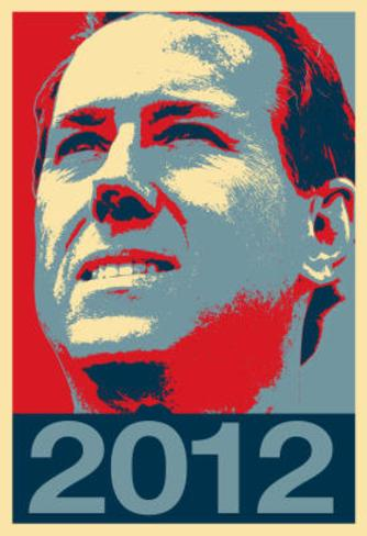 Rick Santorum 2012 Political Poster Poster