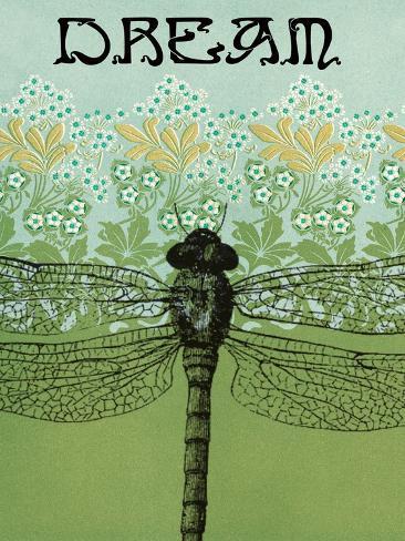 Dream Dragonfly Art Print