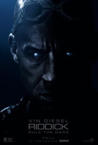 Riddick Movie Poster Poster double face