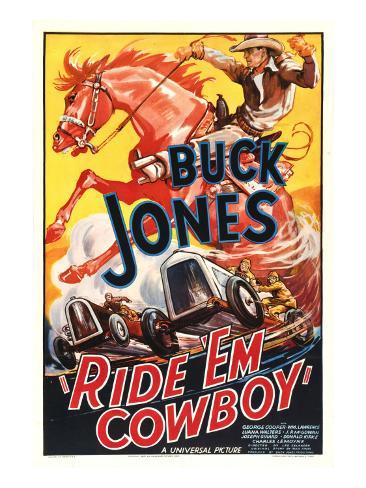 Ride 'Em Cowboy, Buck Jones, 1936 Stretched Canvas Print