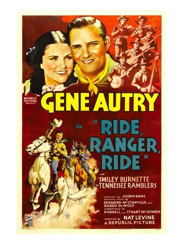 Ride, Ranger, Ride, Kay Hughes, Gene Autry, the Tennessee Ramblers, 1936 Photo
