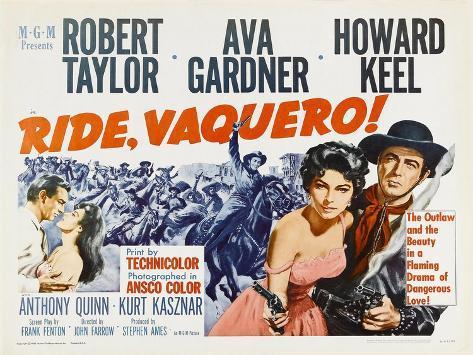Ride, Vaquero!, 1953 Art Print
