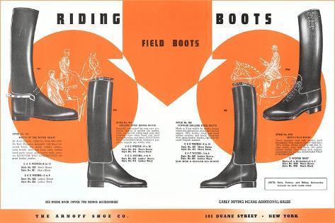 Riding Boots Art Print