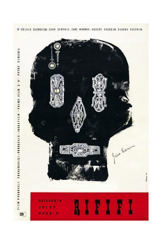 Rififi, Polish Poster Art, 1955 Giclee Print