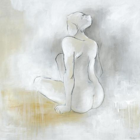 Lady Sitting Giclee Print