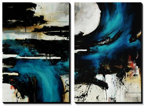 Turquoise Splash Canvas Art Set