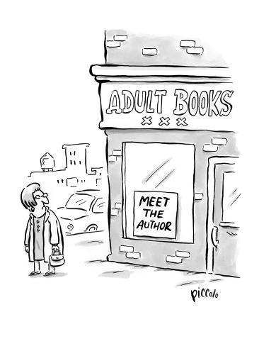 Meet the Author - New Yorker Cartoon Premium Giclee Print