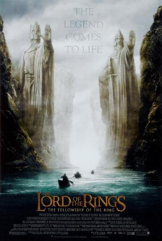 Ringarnas herre 1: Sagan om Ringen, engelska Poster