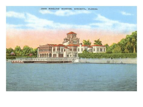 Ringling Mansion, Sarasota, Florida Art Print