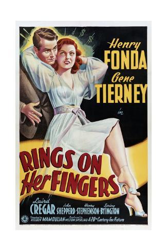 Rings on Her Fingers Konstprint