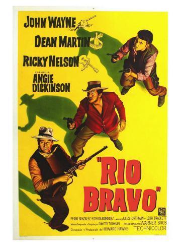 Rio Bravo, Australian Movie Poster, 1959 Impressão artística