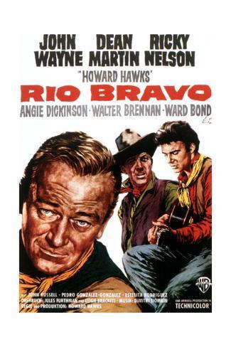 Rio Bravo, John Wayne, Dean Martin, Ricky Nelson, 1959 Lámina giclée