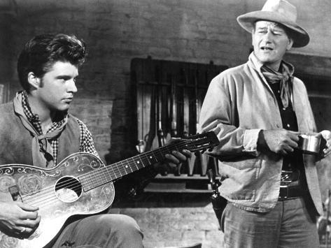Rio Bravo, Ricky Nelson, John Wayne, 1959 Fotografía