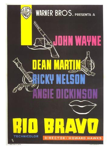 Rio Bravo, Spanish Movie Poster, 1959 Art Print