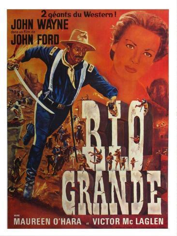 Rio Grande, French Movie Poster, 1950 Lámina