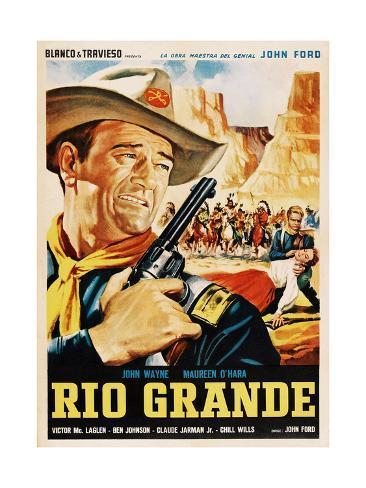 Rio Grande, John Wayne, 1950 Giclee Print