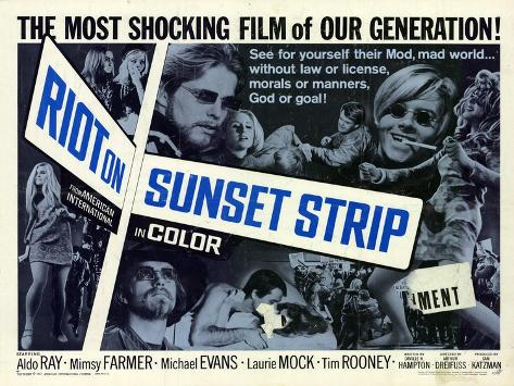 Riot on Sunset Strip, 1967 Art Print