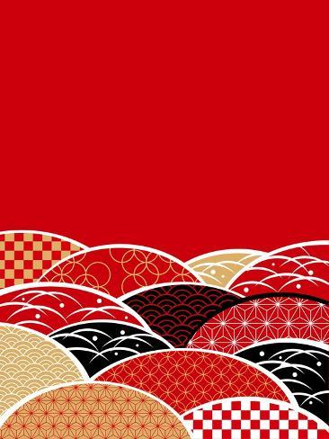 A Japanese Style Background of Japan Art Print