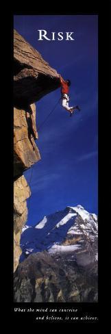 Risk: Cliffhanger Art Print