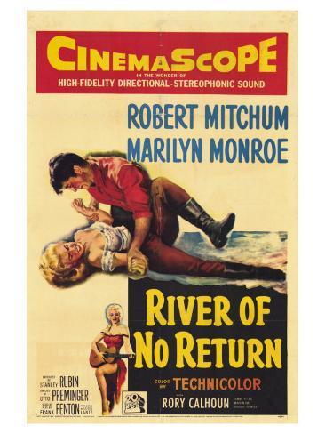 River of No Return, 1954 Impressão artística