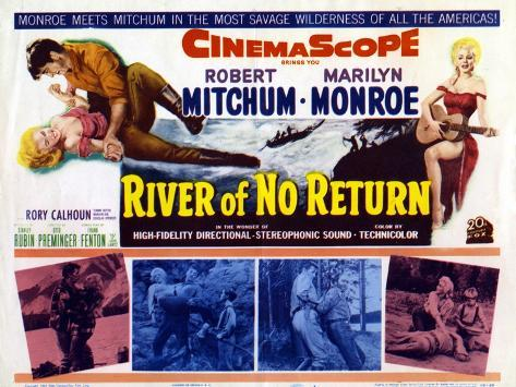 River of No Return, UK Movie Poster, 1954 Art Print
