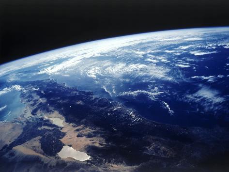 Satellite Image of California Photographic Print