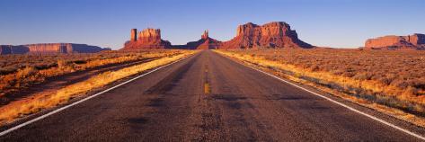Road Monument Valley, Arizona, USA 写真プリント