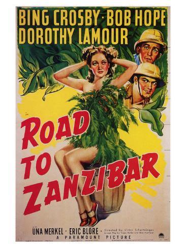 Road to Zanzibar, 1941 Art Print