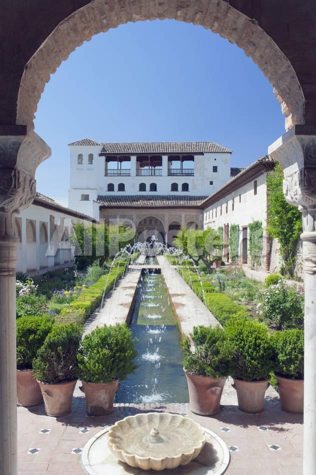 Palacio Del Generalife, Alhambra, Granada, Andalucia, Spain Lámina ...