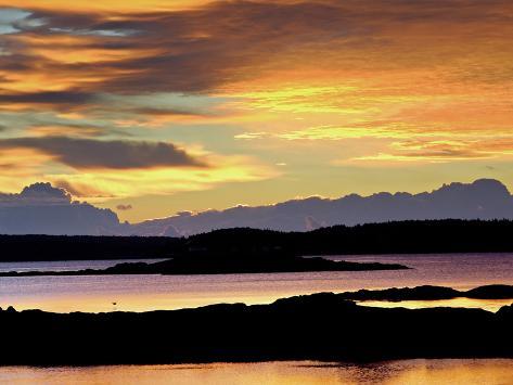 Maine Coast at Sunrise Photographic Print