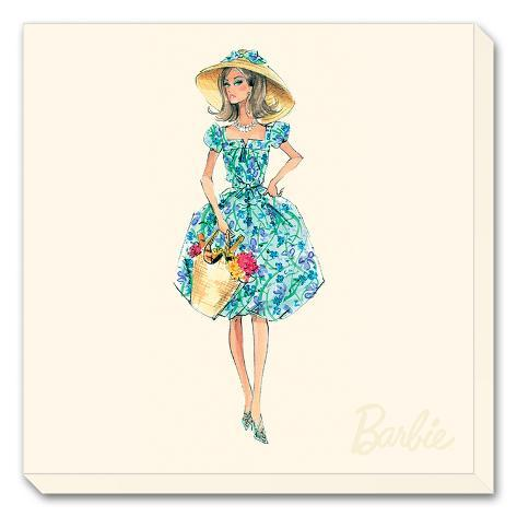 Barbie™, Market Day Stretched Canvas Print