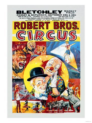 Robert Brothers' Circus at Bletchley Market Field Art Print
