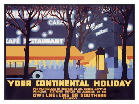 Your Continental Holiday Giclee Print