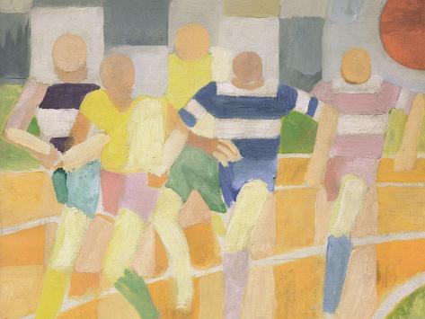 The Runners, c.1924 Giclee Print
