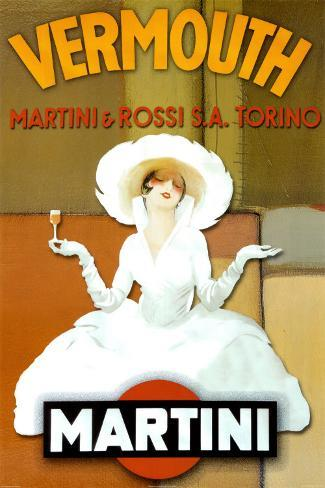 Abstract Martini-Rossi Poster