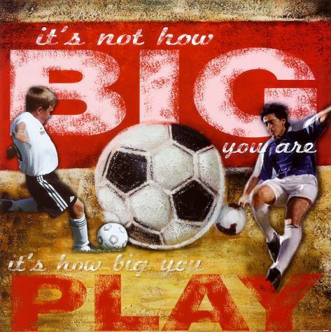 Big Play: Soccer Art Print