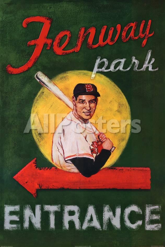 Robert Downs Fenway Park Entrance Boston Red Sox Sports Poster Print Prints Allposters Com