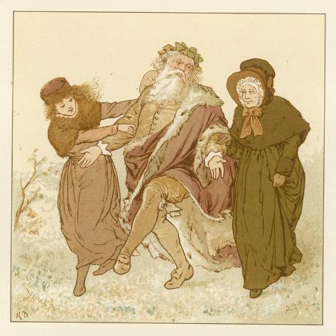 Depiction of the Month of December Lámina giclée