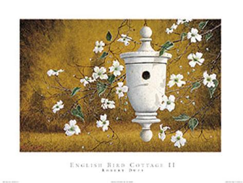 English Bird Cottage II Art Print