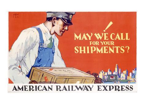 American Railway Express Shipment Giclee Print