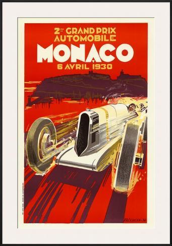Monaco Grand Prix, 1930 Framed Art Print