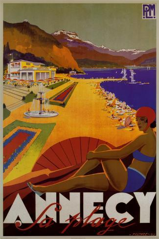 Annecy Sa Plage Poster
