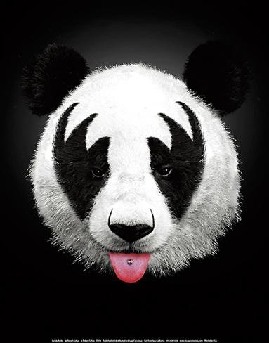 Panda Rocks Art Print