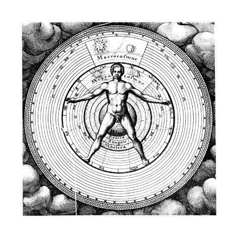 オールポスターズの ロバート・フロイド「Diagram Showing Man's Position in the Universe, 1617-19」ジクレープリントMenu IconSearch IconCart IconHelp Icon