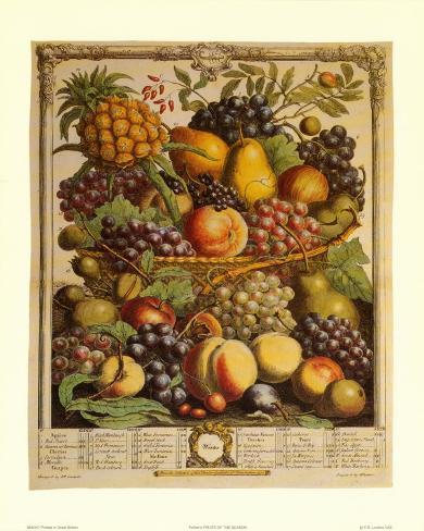Fruits of the Season, Winter Art Print