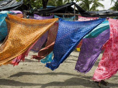 Colourful Beach Wraps for Sale, Manuel Antonio, Costa Rica Photographic Print