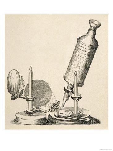 Robert Hooke's Microscope Giclee Print
